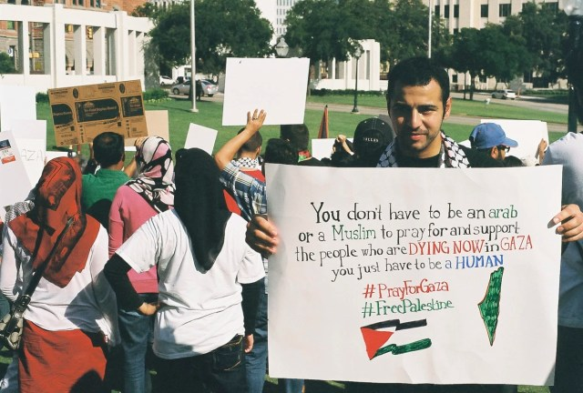 Pro-Palestine Protest At the Dealey Plaza in Downtown Dallas