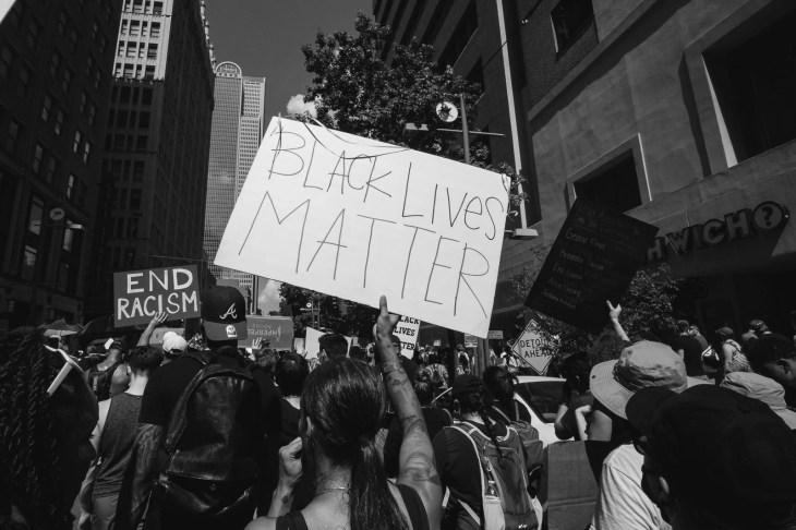 Black Lives Matter Protest in Dallas. Texas