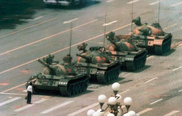 Tank Man, Jeff Widener, 1989, Memorable Photo