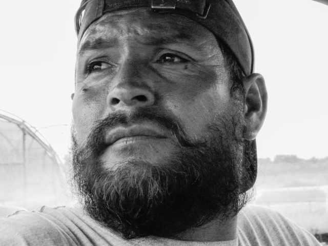 Adan, a Mexican migrant farmworker