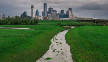 A storm over the Dallas skyline