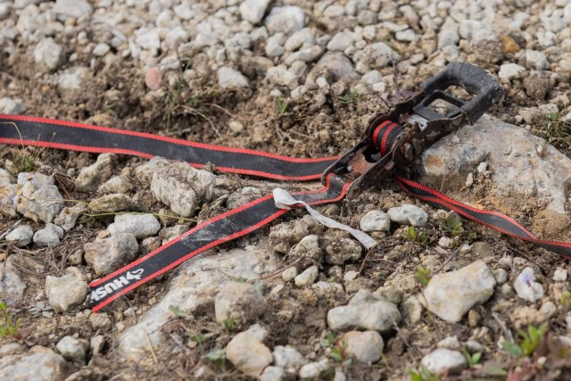 A broken Husky strap