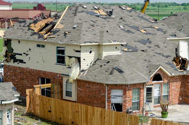 Diamond Creek subdivision in Forney tornado destruction