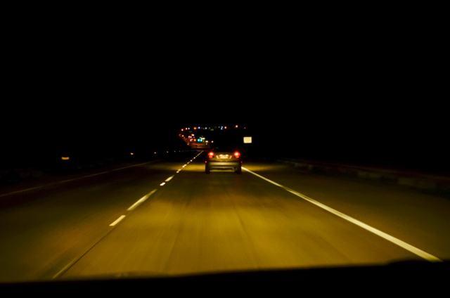 Commuting in Dallas at night