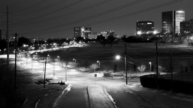 I Like The Night, From the Royal Lane bridge overlooking Manderville Lane in Dallas, Texas