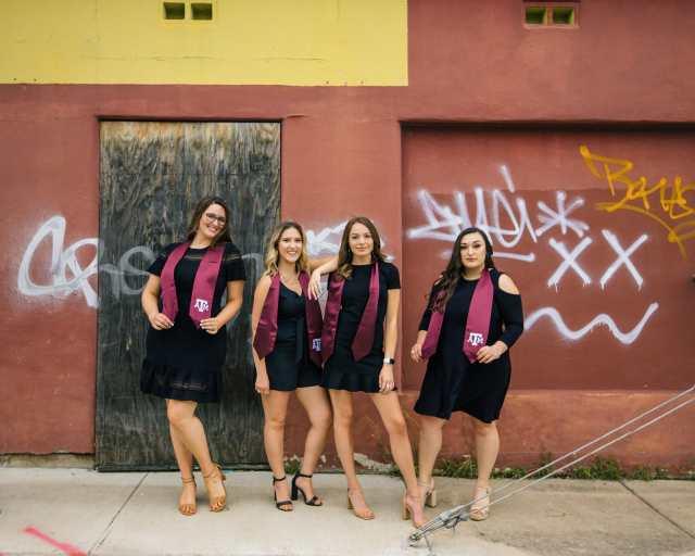 Creative Graduation Photos Of Texas A&M College of Dentistry Dental Hygiene Class Of 2021