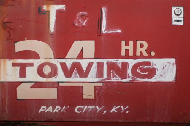 An old towing truck from Park City, Kentucky