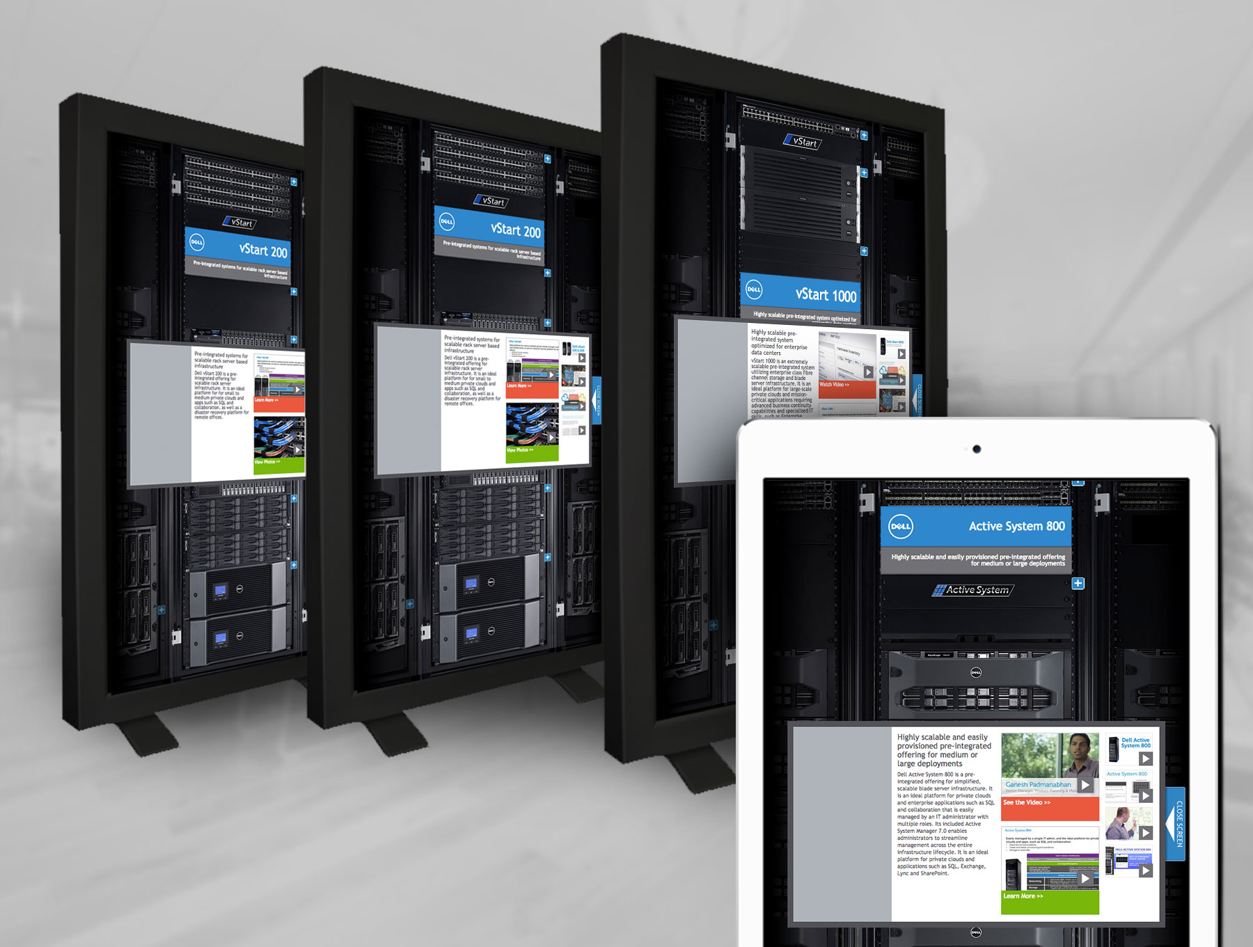 Dell server rack web design
