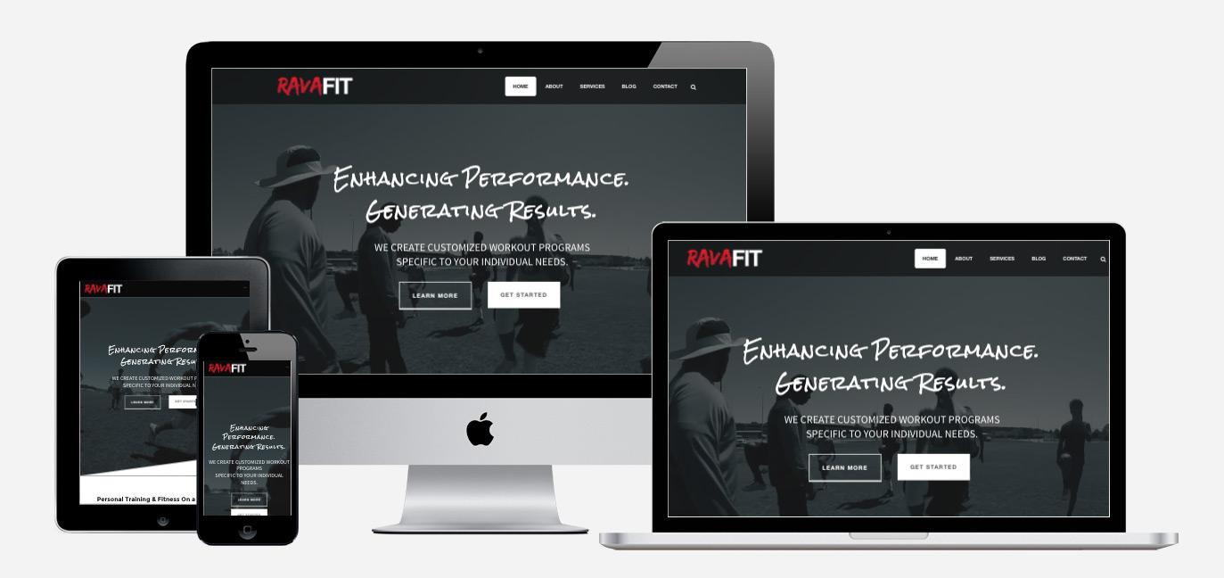 Ravafit Web Design