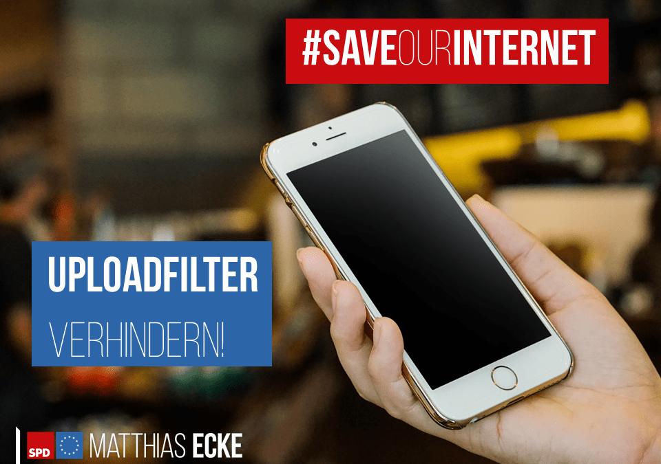 #SaveYourInternet: Es darf keine Uploadfilter in der EU geben