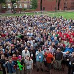 Die Wikimania 2012 erfreute sich einer Rekordbeteiligung. Bild: von Helpameout / Photographed by Adam Novak (Eigenes Werk) [CC-BY-SA-3.0 (http://creativecommons.org/licenses/by-sa/3.0)], via Wikimedia Commons