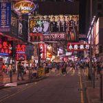 Straßenszene in Hongkong.