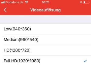 Videos können in Full-HD-Qualität exportiert werden.