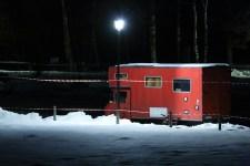red ski bum. Chamonix, 2014