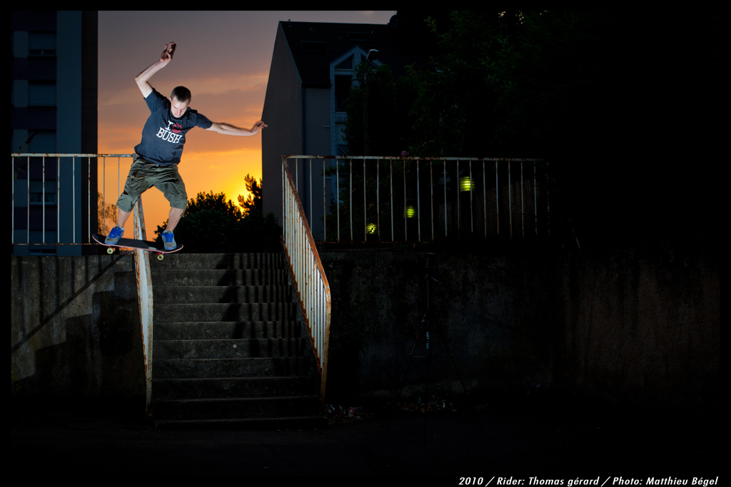 Skateboard – Sunset Handrail