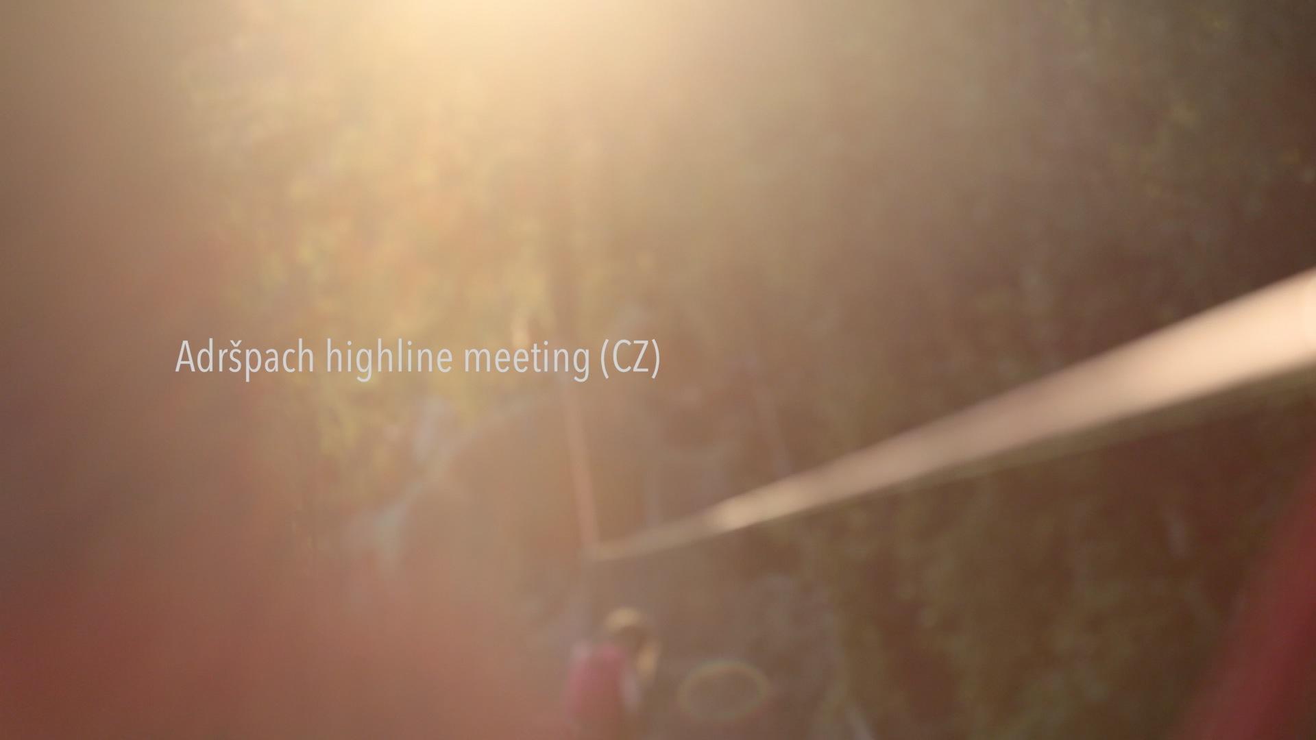 Adrspach Higline Meeting (CZ)