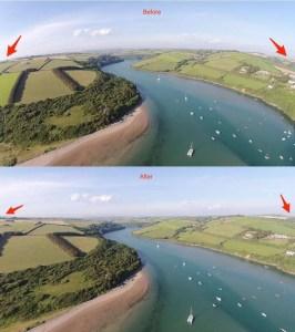 Correct Lens Distortion DJI Phantom Vision Plus