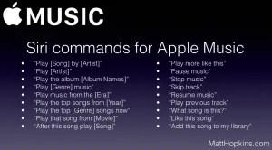 Full List of Siri Commands for Apple Music