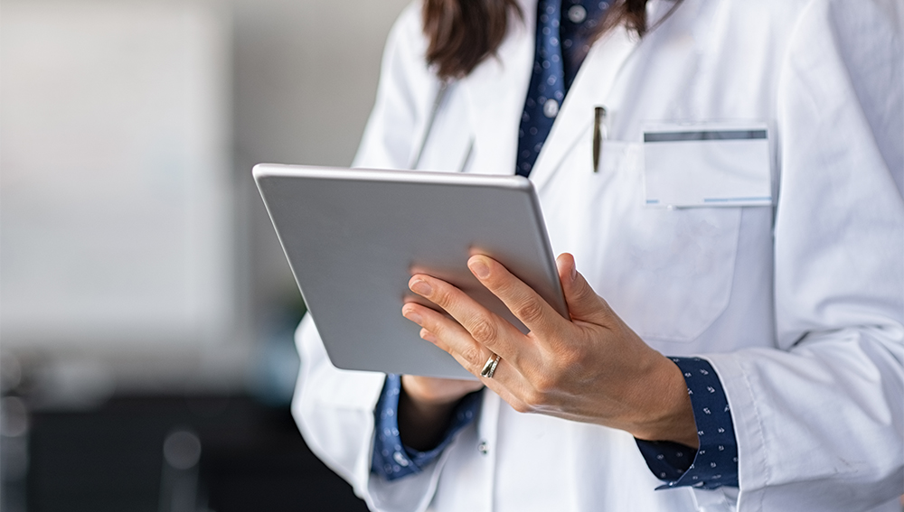 Doctor using tablet for telemedicine