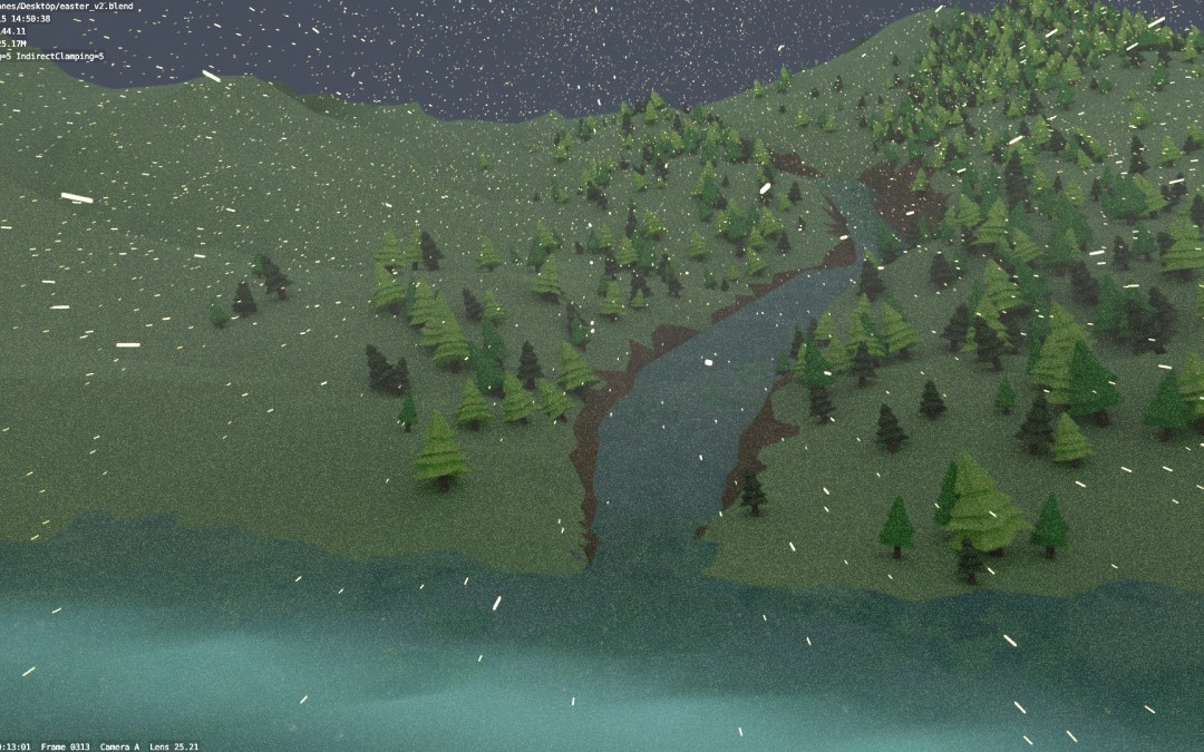 Low Poly Nature Animation (3D)