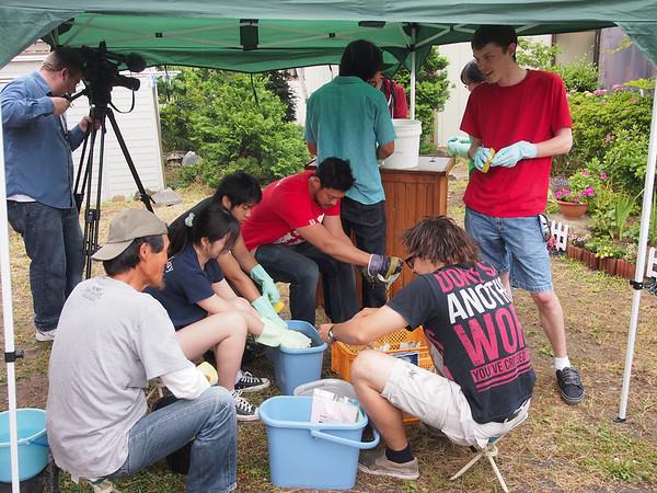 Volunteers in Ishinomaki