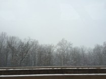 Snow on the tracks.