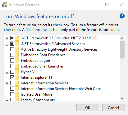 .NET Framework 3.5 Won't Install on Windows 10
