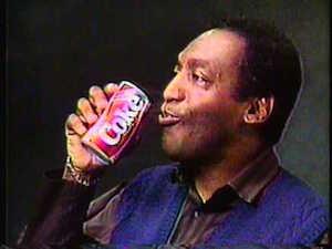 Bill cosby drinking a coke