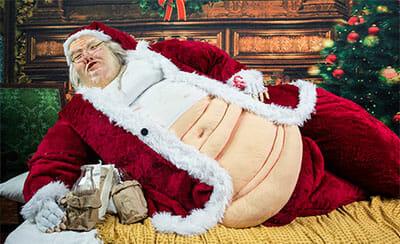 Overweight fat santa claus