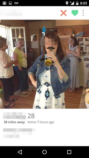 tinder basic bitch mustache and beer