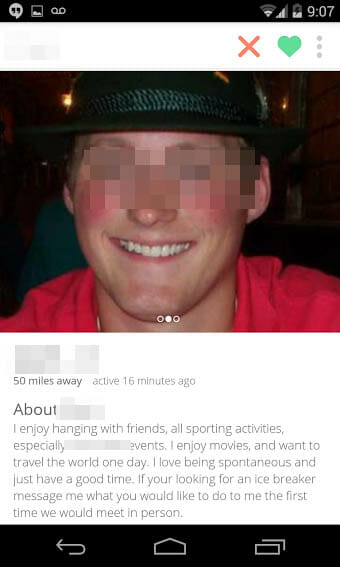 What Not To Do On Tinder