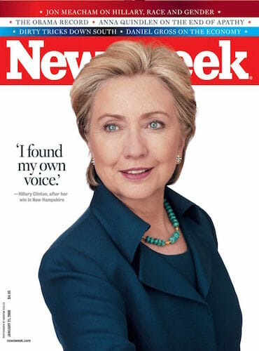 Hillary clinton on the cover of newsweek