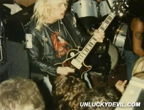 Jeff Hanneman With Slayer Slayer at The Jules Loft circa 1984 Haunting The Chapel Era