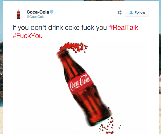 Coca Cola screen shot