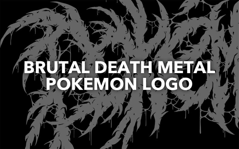 Brutal death metal pokemon logo