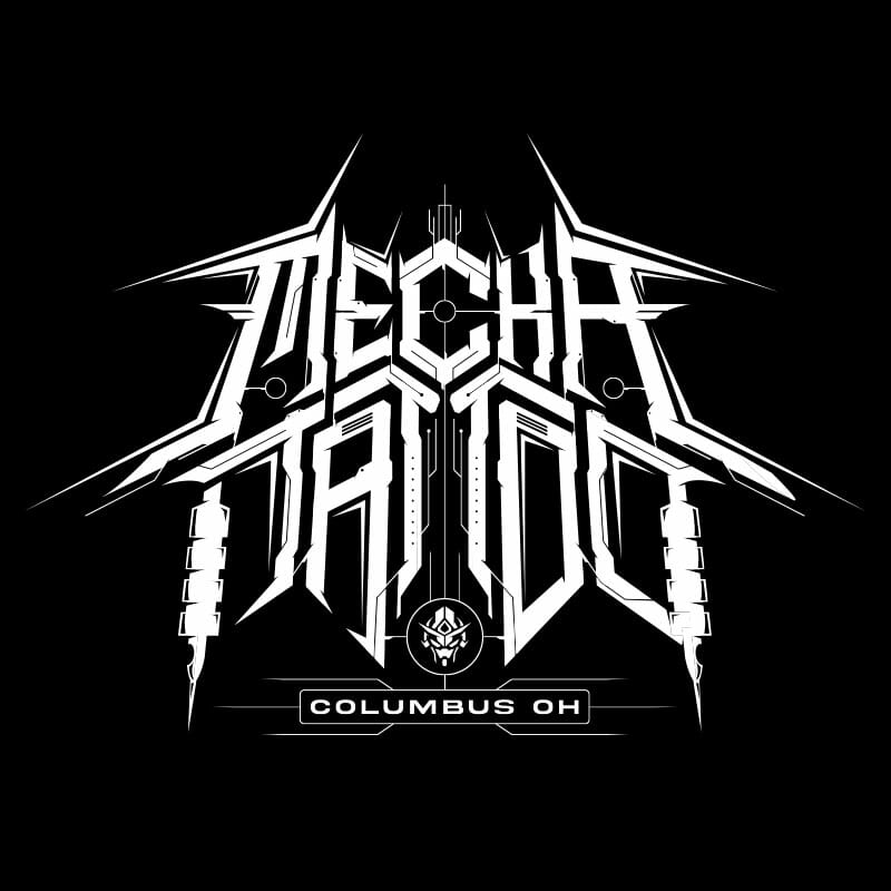 mecha tattoo logo by matt lawrence art