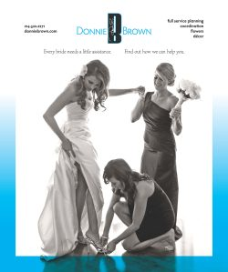 Print Design: Full Page Ad for Donnie Brown in Brides of North Texas