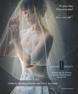 Print Design: Full Page Ad for Donnie Brown in Dallas Brides