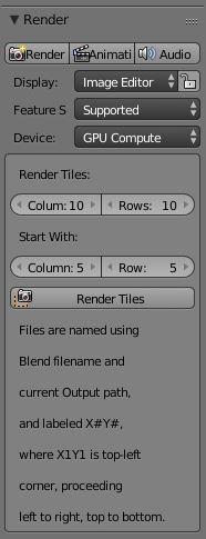 image tile script: Blender Add-on
