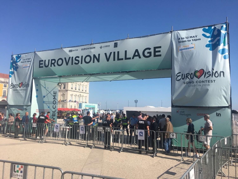 Entrance to the Eurovision Village, Praça do Comércio, Lisbon
