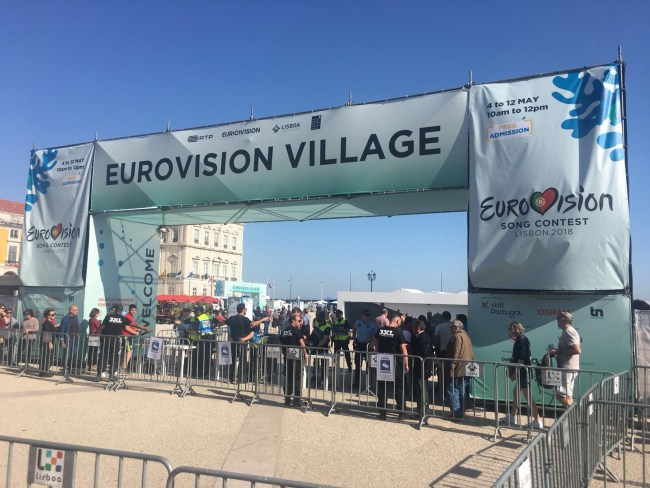 Entrance to the Eurovision Village, Praça do Comércio, Lisbon