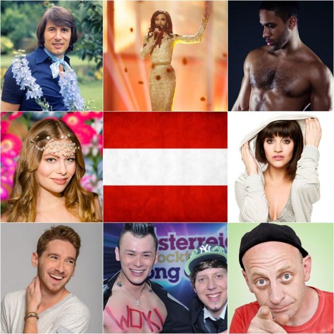 Top 5 Eurovision entries of Austria