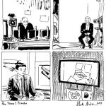 Comic drawn live on TV (2015)