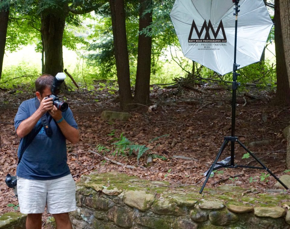 Matt Mead photographing family portraits in Ligonier, PA