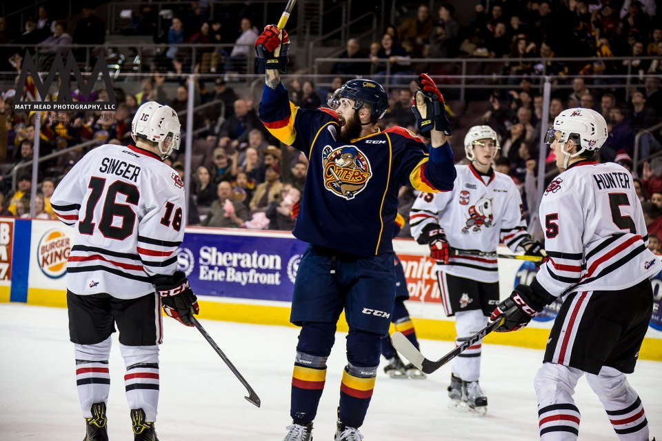 Cam Lizotte of Erie Otters Hockey Club