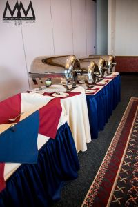 erie pa wedding venue yacht club food tables photo