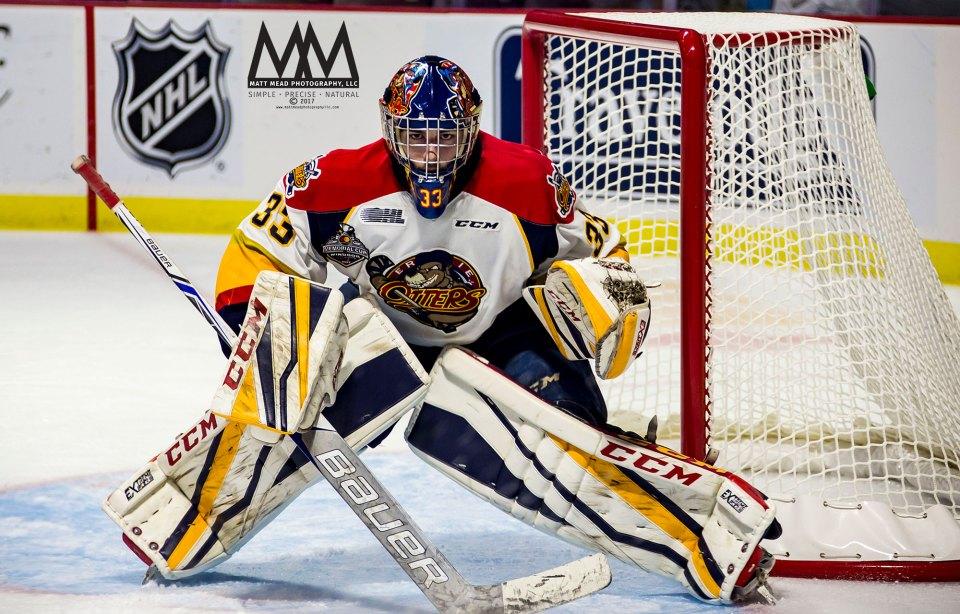 Troy Timpano, Erie Otters goalie
