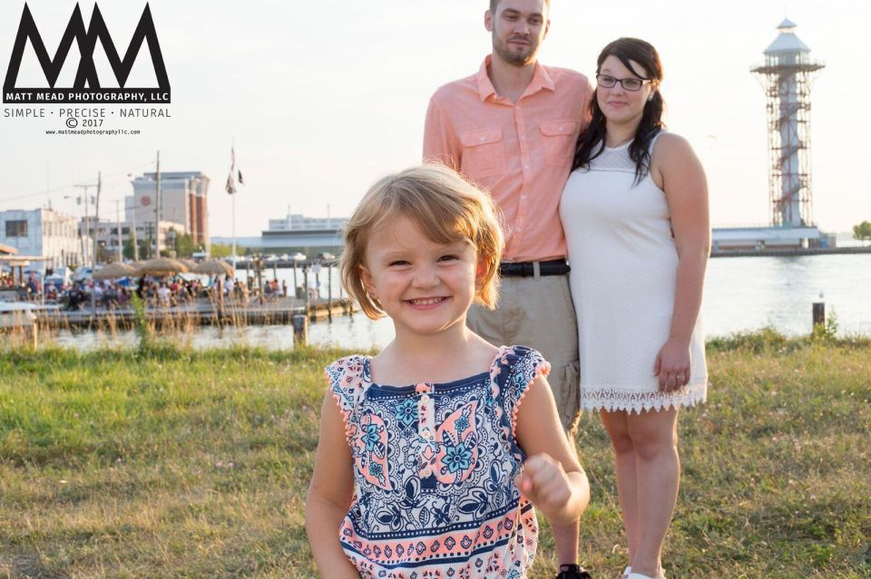 erie pa engagement little girl smiling photo