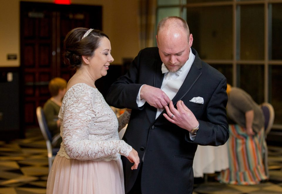 first dance at Sheraton Bayfront hotel wedding in Erie, PA