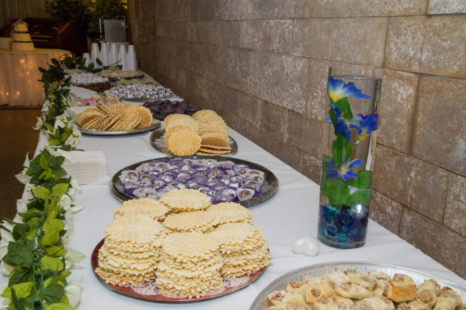 desserts at Masonic Temple wedding in Erie, PA